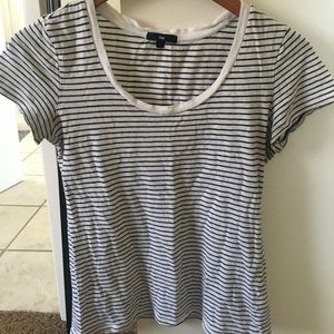 Striped tee size small